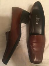 Sesto Meucci Genuine Leather Brown Loafers Size 9.5 C