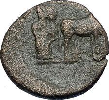 AUGUSTUS 27BC Philippi Macedonia PRIESTS Founding City Oxen Roman Coin i66692