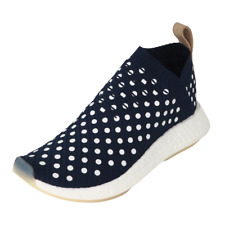 Adidas NMD CS2 Primeknit Running Sneakers Navy White BA7212 Womens Shoes Size 9