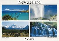 AOTEAROA NEW ZEALAND POSTCARD - HAURAKI GULF, POHUTU GEYSER, MOUNT COOK NZ PC
