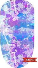 Nail WRAPS Nail Art Water Transfers Decals - Colour Splatter Blues - W072