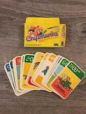Vintage CHIPMUNKS playing cards 1984 IDEAL Alvin Simon Theodore COMPLETE USA