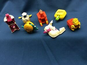 McDonald's Food Changeables 1990 Set of 7 transform dinosaurs  Happy Meal Toys