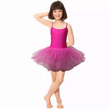 Hot Pink Tutu Leotard Girls Dance Halloween Deluxe Fancy Dress Costume Ballet