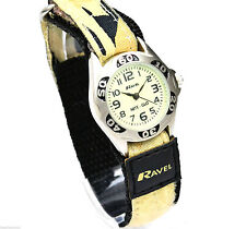 CHILD'S BOYS SAND ARMY WATCH CAMOUFLAGE RIP STRAP NITE GLOW FACE R1704.4
