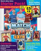 2017-18 TOPPS MATCH ATTAX EXTRA PREMIER LEAGUE STARTER PACK ALBUM + 6 Cards +LE
