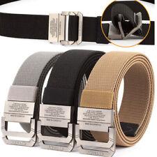 3PCS Mens Elasticiated Web Belt Double Loop Buckle Sports Braided Trousers Belts