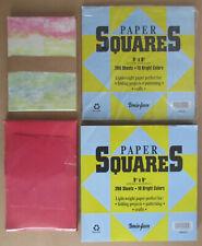 "Bemiss-Jason Paper Squares Sheets 9"" X 9"" Red & Multi-Color Envelopes Stationary"