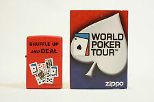 Zippo Lighter Shuffle Up and Deal Red Zippo Dated 2004/2005 World Poker Tour