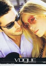 PUBLICITE ADVERTISING 115 2001 Vogue lunettes de soleil