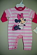Minnie Mouse-Girls Size 0/3 Month-Disney-Licensed Long Sleeve 1 Piece-Nwt