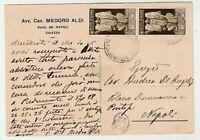 STORIA POSTALE - 1937 REGNO AUGUSTO COPPIA C.15 SU CARTOLINA E/2584