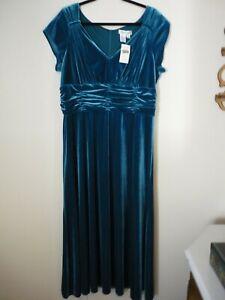 90s Coldwater Creek New Old Stock Blue Velvet Evening Gown Dark Navy Blue Shimmering Women/'s Dressy Dress