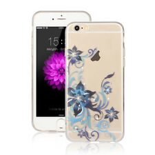 BLAU BLUME Hülle - Apple iPhone 7 PLUS Diamant Silikon Blumen Rose TPU Case 11