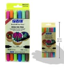 PME Edible Ink Pens Fine Brush 6 Pk Cake Decorating Baking