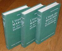 FERNAND BOUQUEREL - L'ETUDE DES MARCHES AU SERVICE DES ENTREPRISES 1, 2 & 3  PUF