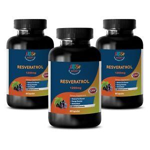 Natrural Ingredients - Resveratrol Supreme 1200 - Antioxidant - 3 B 180 Ct