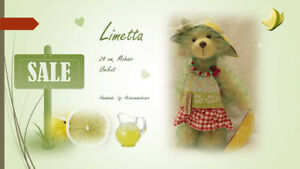 Limetta von den Heinemannbears,24 cm,Handarbeit, Mohair, Künstlerteddy