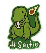 Selfie Dinosaur Iron-On Patch 2 1/2 x 3 1/2 inches Free Ship Licensed PCH-GT4125