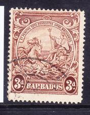 BARBADOS 1938 GVI SG253ba 3d variety vert line by horses head very f/u. Cat £140