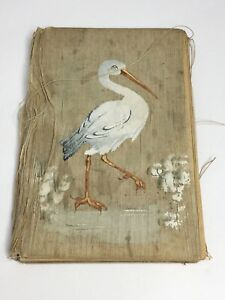 Antique Baby Book Stork On Cover circa 1918 Very Rough Condition 🐦 W