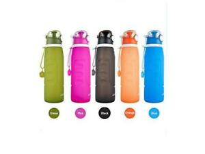 Ikikin Foldable Silicone Water Bottle 1 L Variety of color, BPA Free, Leak Proof