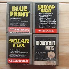 Atari 2600 CBS Electronics Lot Blueprint Wizard of War Solar Fox Mountain King
