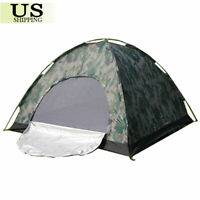 US Camping Waterproof Outdoor 2 Person 4 Season Folding Tent Camouflage Hiking