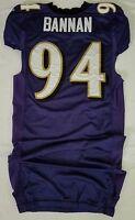 #94 Justin Bannan of Ravens NFL Locker Room Practice Worn Jersey - BR1762