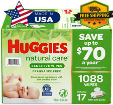 HUGGIES Natural Care Sensitive Baby WIPE Refill (1,088 ct.) *** SPECIAL OFFER!!!
