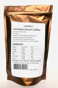 Hawaiian Coffee Beans Grown Dark Roast 100% Whole Bean Coffee Beans 10 OZ.