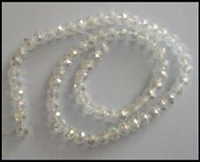10mm x 8mm Rondelle AB CLEAR x 72 oval beads A-Grade Crystal faceted Suncatcher