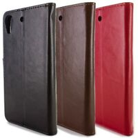 For HTC Desire 626 / 626S Leather Case - Flip Folio Credit Card ID Wallet Pouch