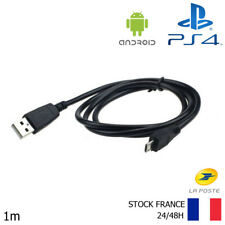 CABLE USB 1 mètre POUR RECHARGER MANETTE PLAYSTATION 4 PS4 Android Samsung HTC