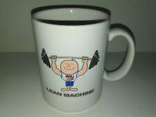 "Coffee Tea Mug Cup ""Lean Machine"" SWU Lite - Great Smiling Weightlifter - USA"