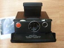 Polaroid SX-70 Alpha 1 Model 2 Tested w/ Film & Flash Red Mahogany Wood Veneers