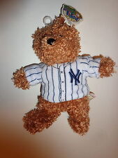 "New York Yankees 8"" Brown Plush Teddy Bear With White Uniform"