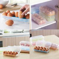 Eierbehälter 10/15 Eier Eierträger Eierbox Picknick Aufbewahrung Dose Camping