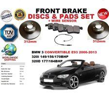 para BMW 3 E93 Descapotable 06-13 312mm Discos freno Delantero Set + pastillas