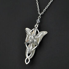 NEW fashion vintage ARWEN'S EVENSTAR NECKLACE LORD OF THE RINGS SILVER pendant .
