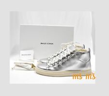Balenciaga Arena Metallic Leather High-Top Sneaker Mens  SZ EU 42, US 9 rare