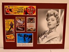 Shelley Winters Film Collage with Autograph (includes COA)