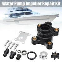 Set Water Pump Impeller Repair Kit For Johnson Evinrude 9.9 15 Hp Outboard Black