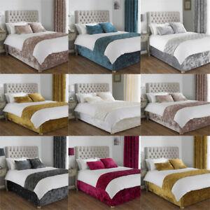 Paoletti Verona Crushed Velvet Divan Bed Base Wrap