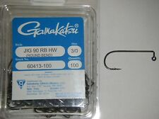 Gamakatsu Jig Hooks Heavy Wire 90 Degree Round Bend Hw #60413-100 3/0 100 Pack
