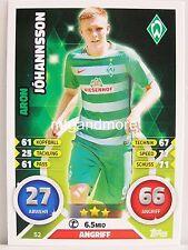 Match Attax 2016/17 Bundesliga - #052 Aron Johannsson - SV Werder Bremen