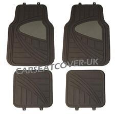 Chrysler Grand Voyager - Black/Grey HEAVY DUTY Front Rear RUBBER CAR Floor MATS