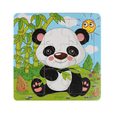 Panda Puzzle Giocattoli in legno naturale per bambini Educazione da 0 mesi