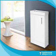400mm Gloss White Floor Standing Bathroom Vanity Unit - Compact Cloakroom Basin