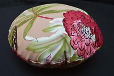 LF806n  Teal Gray Red Pink Brown  Cotton Canvas Round Pillow Case/Cushion Cover